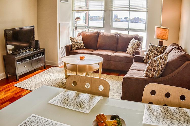 RMH Boston Harbor Apartment 321 Living Room