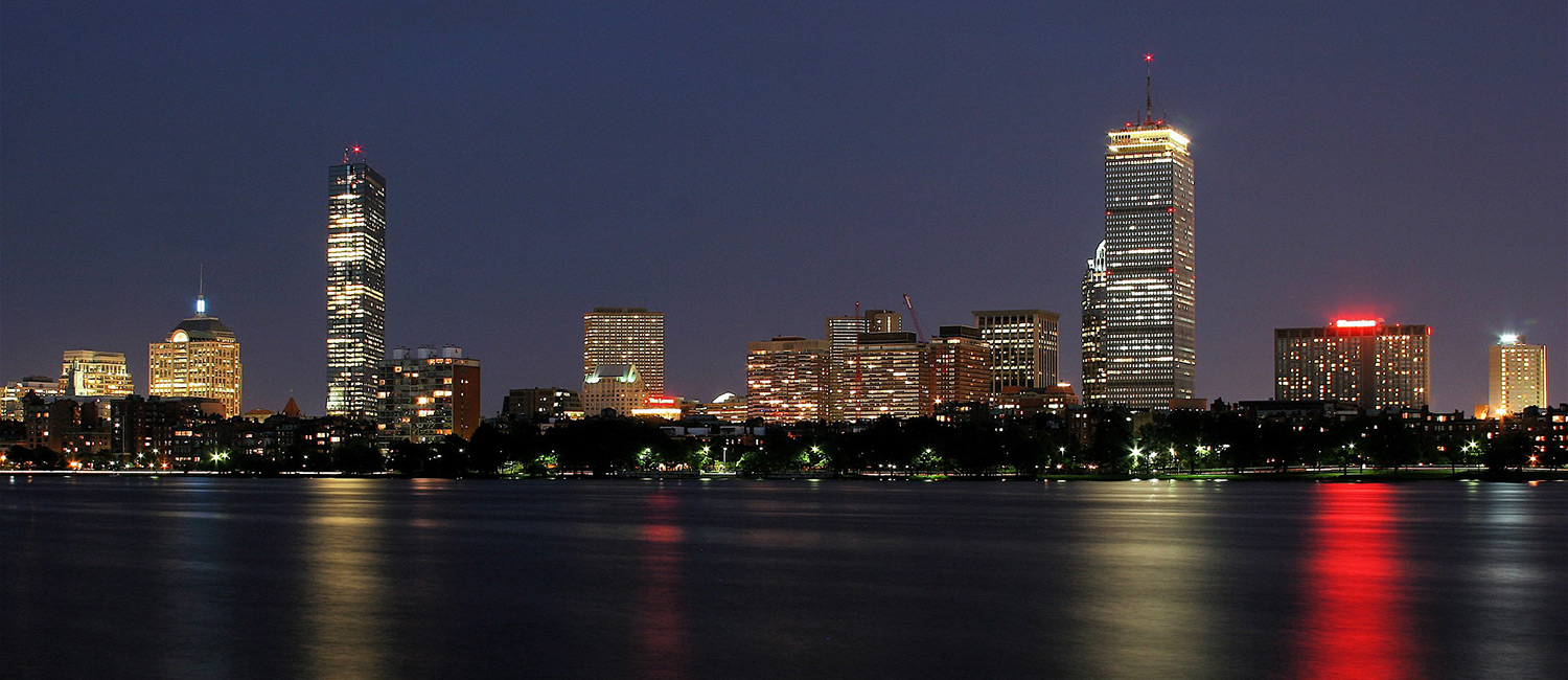 boston harbor night photo